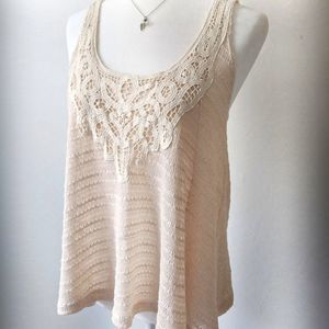 Charlotte Russe Crochet Knit Swing Tank Top